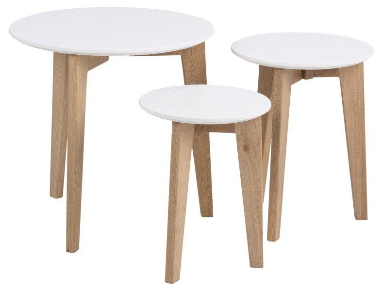 Abin Zestaw stolików Białych