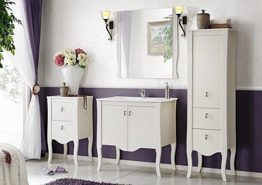 Drewniana szafka z umywalką 80 cm Elisabeth