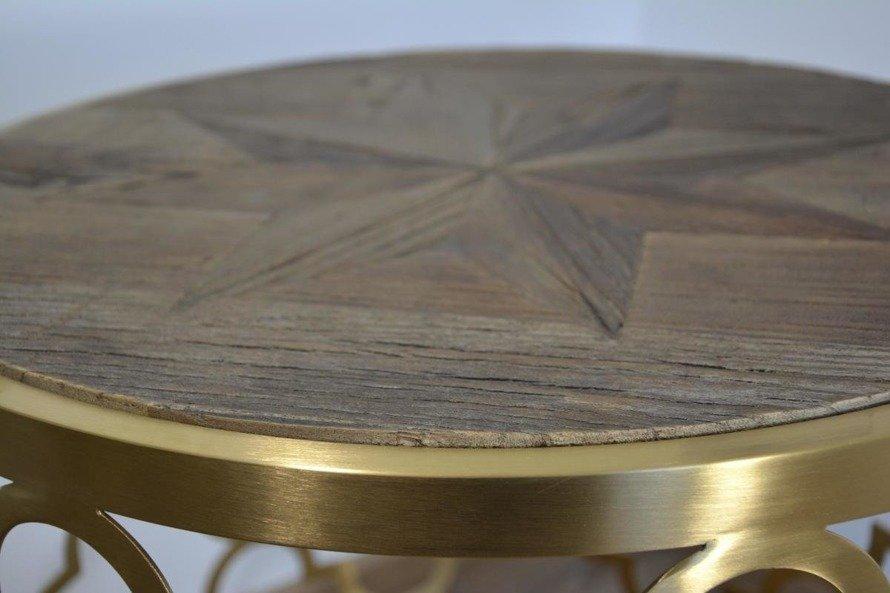 Glamour GL1540 Stolik złoty ze stali