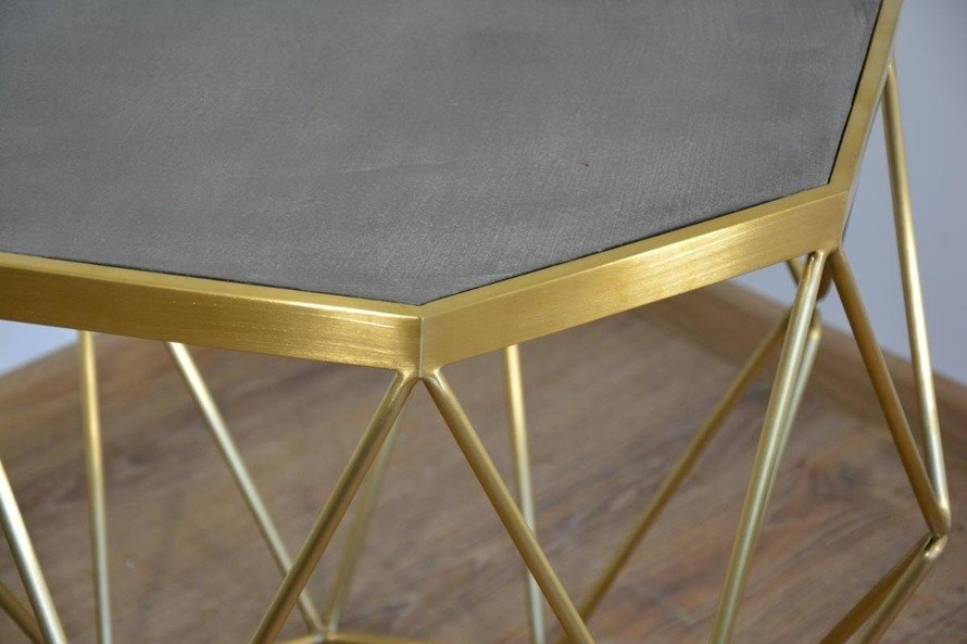 Glamour Gl1715 Stolik kawowy złoty ze stali