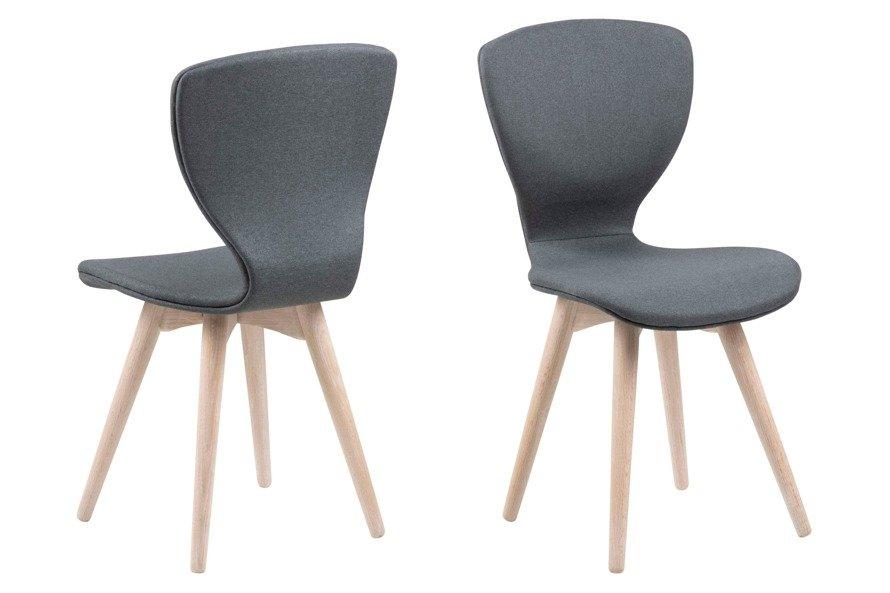 Gongli Krzesło  Ciemny szary