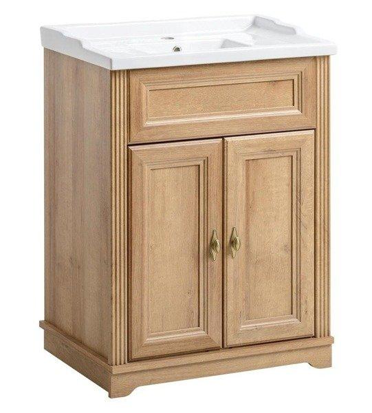 Klasyczne meble łazienkowe Palace dąb 60 cm