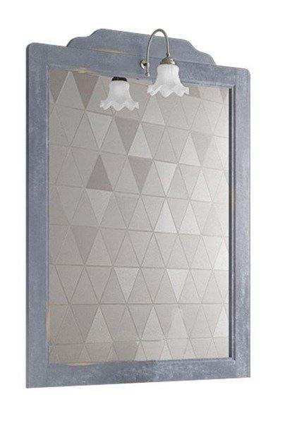 Prowansalskie Lustro 80 cm z przetarciami I oświetleniem