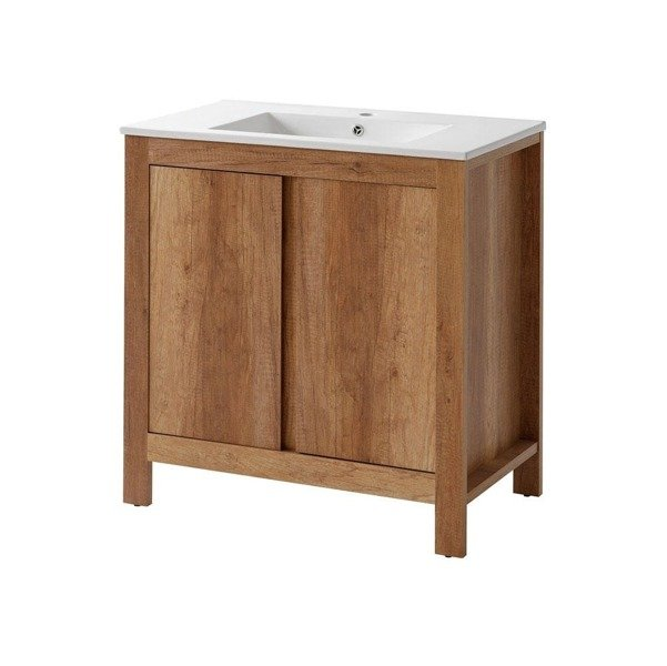 Szafka pod umywalkę Classic Oak 80 cm 2D