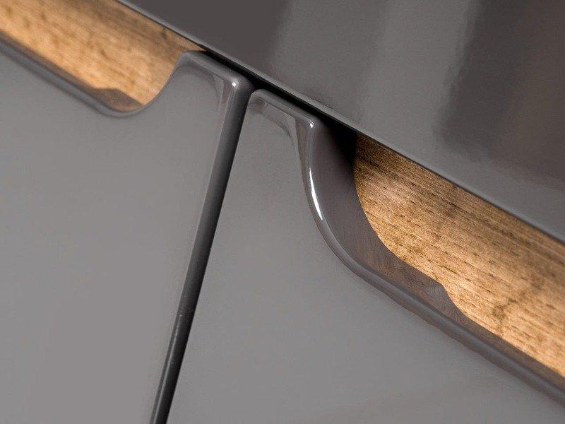 Szafka z umywalką 60 cm Bali szary połysk